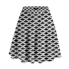 Expanded Metal Facade Background High Waist Skirt