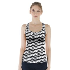 Expanded Metal Facade Background Racer Back Sports Top