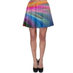 Rainbow Feather Skater Skirt