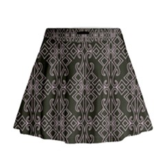 Line Geometry Pattern Geometric Mini Flare Skirt
