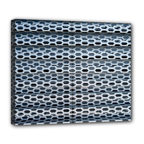 Texture Pattern Metal Deluxe Canvas 24  X 20