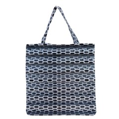 Texture Pattern Metal Grocery Tote Bag