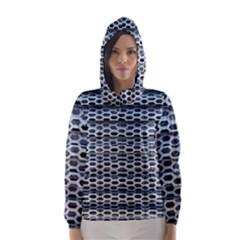 Texture Pattern Metal Hooded Wind Breaker (women)