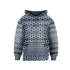 Texture Pattern Metal Kids  Zipper Hoodie