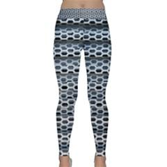 Texture Pattern Metal Classic Yoga Leggings