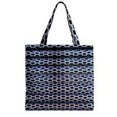 Texture Pattern Metal Zipper Grocery Tote Bag