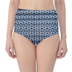 Texture Pattern Metal High Waist Bikini Bottoms
