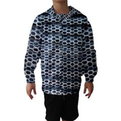 Texture Pattern Metal Hooded Wind Breaker (kids)