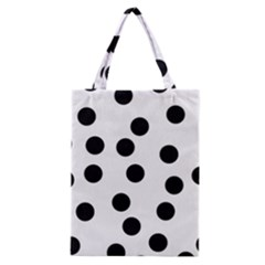 Black And White Dalmatian Spot Pattern Classic Tote Bag