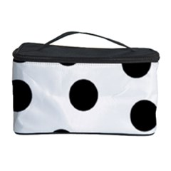 Black And White Dalmatian Spot Pattern Cosmetic Storage Case