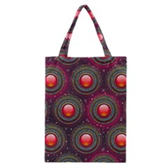 Abstract Circle Gem Pattern Classic Tote Bag