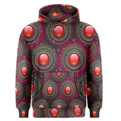 Abstract Circle Gem Pattern Men s Pullover Hoodie