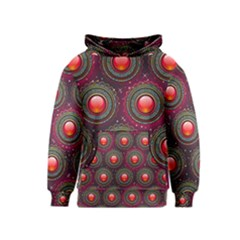 Abstract Circle Gem Pattern Kids  Pullover Hoodie