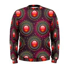 Abstract Circle Gem Pattern Men s Sweatshirt