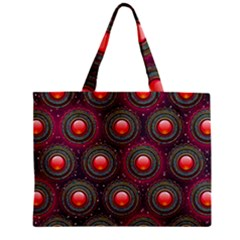 Abstract Circle Gem Pattern Zipper Mini Tote Bag