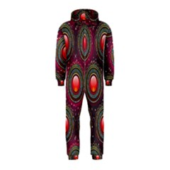 Abstract Circle Gem Pattern Hooded Jumpsuit (kids)