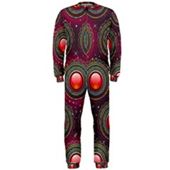 Abstract Circle Gem Pattern Onepiece Jumpsuit (men)