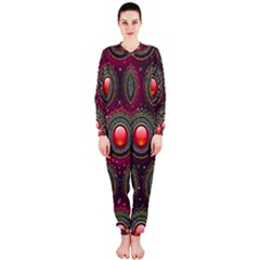 Abstract Circle Gem Pattern Onepiece Jumpsuit (ladies)
