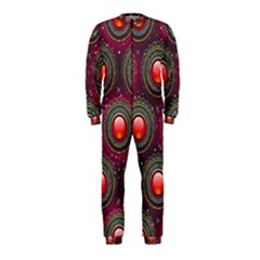 Abstract Circle Gem Pattern OnePiece Jumpsuit (Kids)