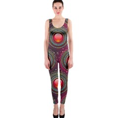 Abstract Circle Gem Pattern OnePiece Catsuit