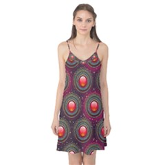 Abstract Circle Gem Pattern Camis Nightgown