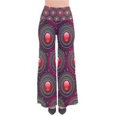 Abstract Circle Gem Pattern Pants