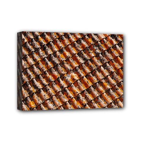 Dirty Pattern Roof Texture Mini Canvas 7  X 5