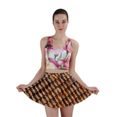 Dirty Pattern Roof Texture Mini Skirt