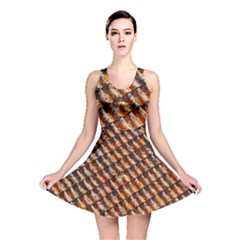 Dirty Pattern Roof Texture Reversible Skater Dress