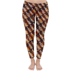 Dirty Pattern Roof Texture Classic Winter Leggings