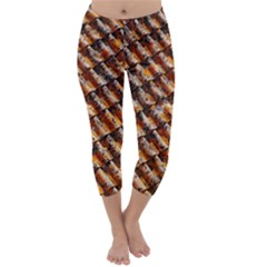 Dirty Pattern Roof Texture Capri Winter Leggings