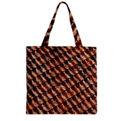 Dirty Pattern Roof Texture Zipper Grocery Tote Bag
