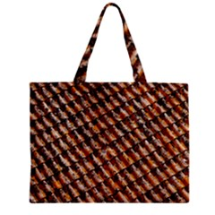 Dirty Pattern Roof Texture Zipper Mini Tote Bag