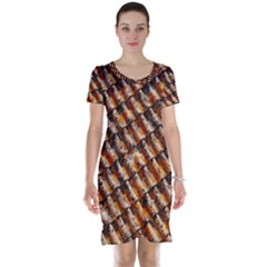 Dirty Pattern Roof Texture Short Sleeve Nightdress