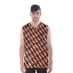 Dirty Pattern Roof Texture Men s Basketball Tank Top