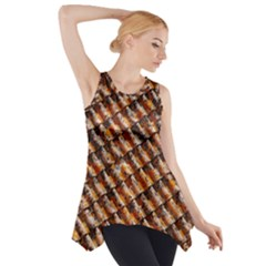 Dirty Pattern Roof Texture Side Drop Tank Tunic
