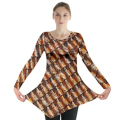 Dirty Pattern Roof Texture Long Sleeve Tunic