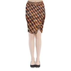 Dirty Pattern Roof Texture Midi Wrap Pencil Skirt