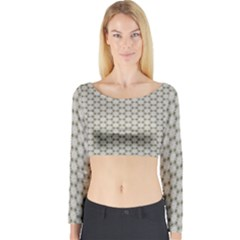 Background Website Pattern Soft Long Sleeve Crop Top