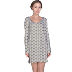 Background Website Pattern Soft Long Sleeve Nightdress