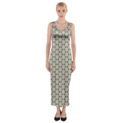 Background Website Pattern Soft Fitted Maxi Dress