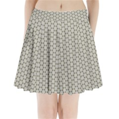 Background Website Pattern Soft Pleated Mini Skirt