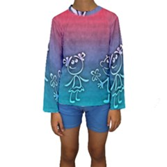 Funny Love Kids  Long Sleeve Swimwear