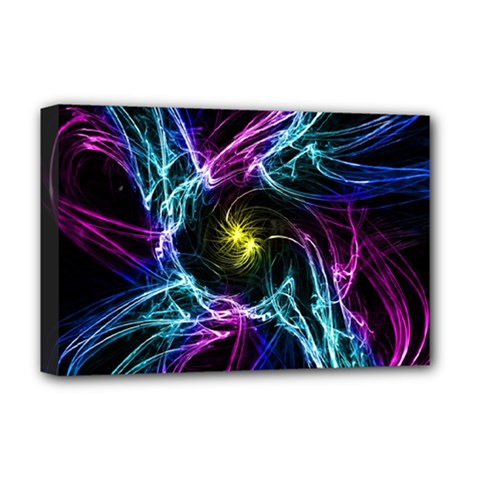 Abstract Art Color Design Lines Deluxe Canvas 18  x 12