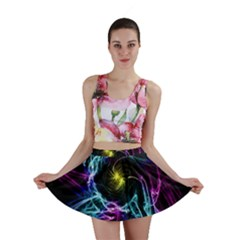 Abstract Art Color Design Lines Mini Skirt