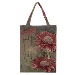 Flowers Plant Red Drawing Art Classic Tote Bag
