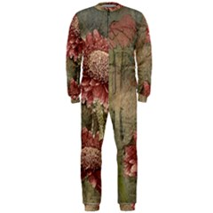 Flowers Plant Red Drawing Art Onepiece Jumpsuit (men)