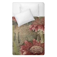 Flowers Plant Red Drawing Art Duvet Cover Double Side (single Size)
