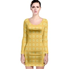 Pattern Background Texture Long Sleeve Bodycon Dress