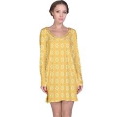 Pattern Background Texture Long Sleeve Nightdress